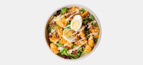 Veggie Caesar Chicken Salad