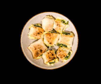 Pizzabrötchen Spinat, 8 Stück