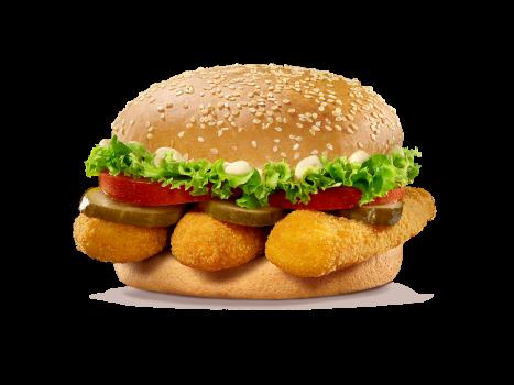 Chicken Burger Hot Stripes