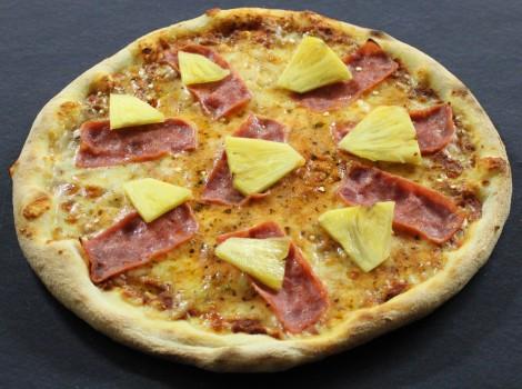 Pizza Hawaii (Truthahnschinken)