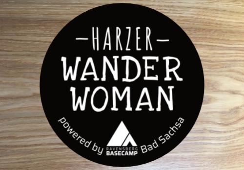 Motivaufkleber Wanderwoman