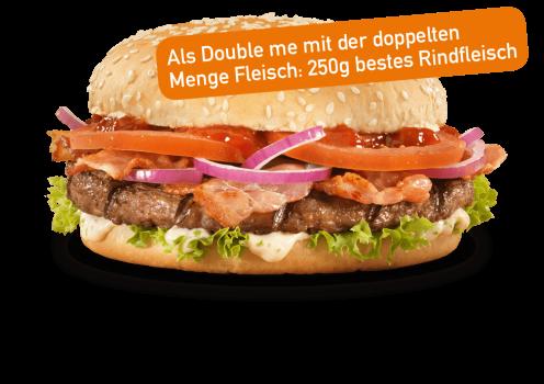 BBQ Garlic Burger Double me