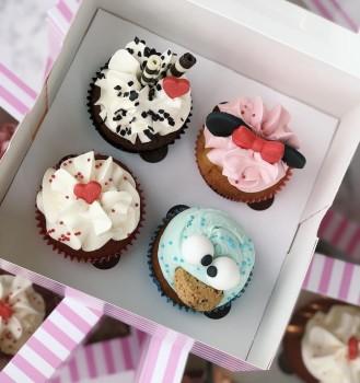 4 Cupcakes Pavarotti dolce