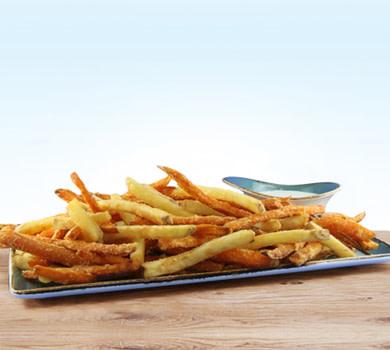1 Pfund gemischt Süßkartoffel-Fritten/Hausfritten
