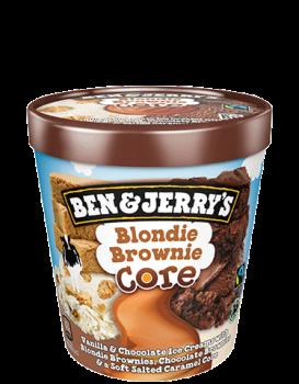 Ben & Jerry Blondie Brownie Core  465ml