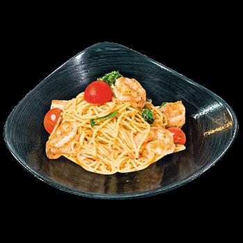 Spaghetti Gamberoni Aglio e Olio