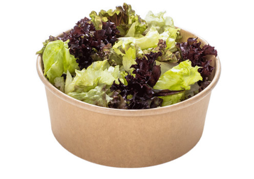 Grüner Salat ohne Dressing