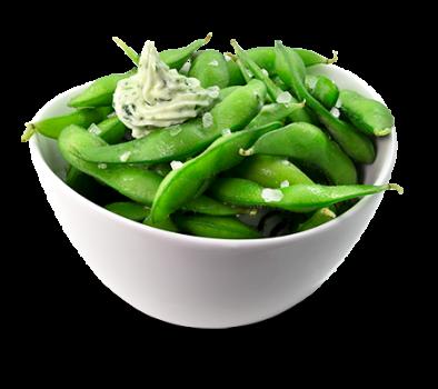 Edamame Salat mit Knoblauchbutter