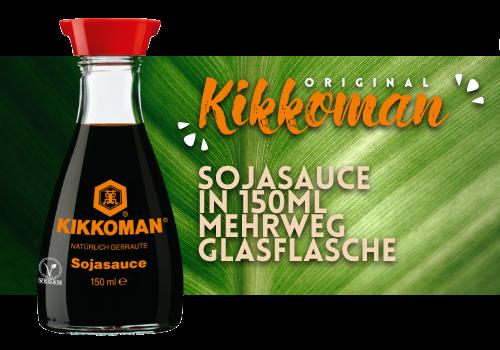 Kikkoman Sojasauce 150ml Mehrweg Flasche (212)