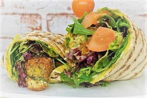 Falafel-Curry Wrap