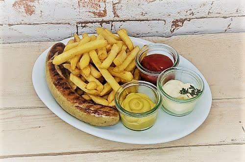 Bratwurst + Pommes