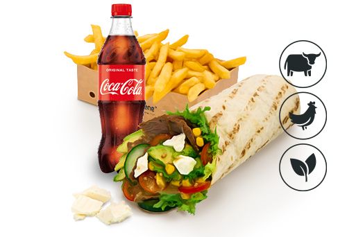 Beef Boss Wrap mit Classic Pommes