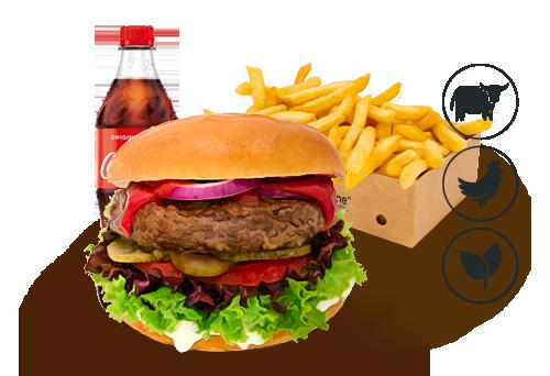 Classic Burger mit Classic Pommes
