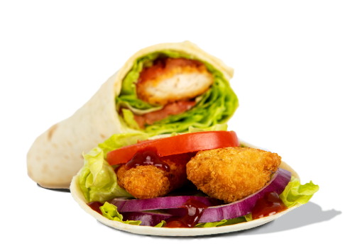 Wrap BBQ Crispy Chicken
