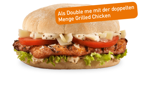Chicken Caesar Burger Double me