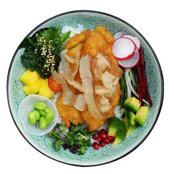 Poke Bowl Chicken Tempura