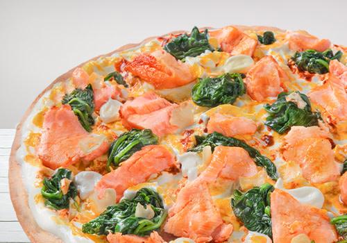Pizza Lachs & Spinaci (Big Monkey)