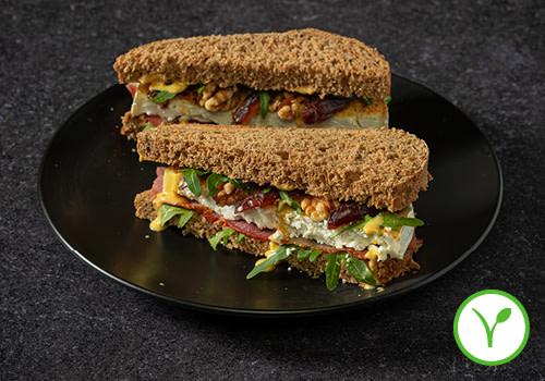 Sandwich Gegratineerde Geitenkaas