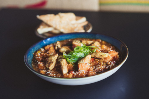 Indisches Rote Linsen Curry Hähnchen
