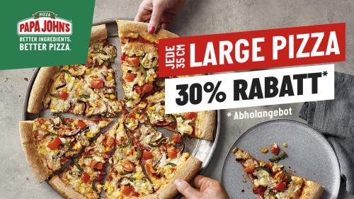30 % RABATT OPENING LARGE PIZZA