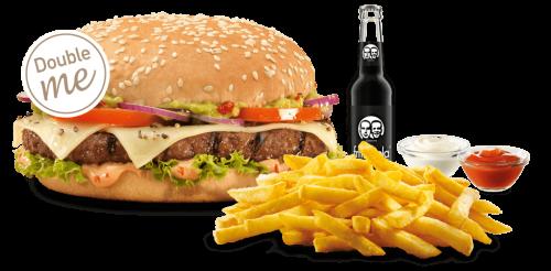 Unser Spicy Guacamole Burger-Menü als Double me