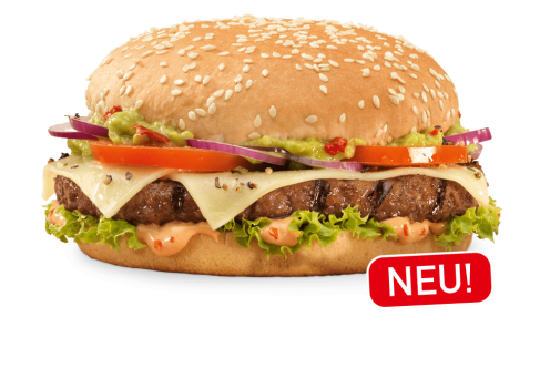 Spicy Guacamole Burger