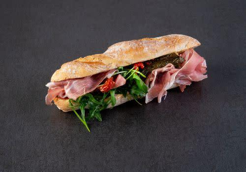 Baguette mit italienischem Landschinken