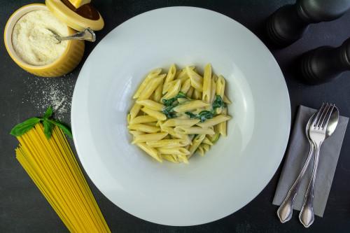 Penne Gorgonzola e Spinaci