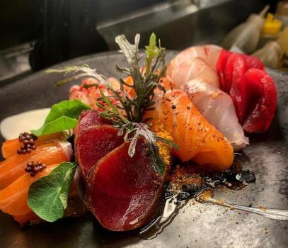 Lachs & Thunfisch Sashimi