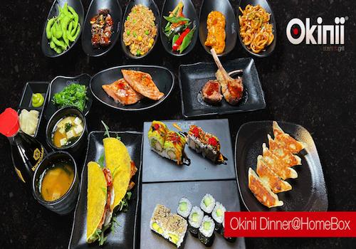 Okinii Dinner@HomeBox 16 Speisen