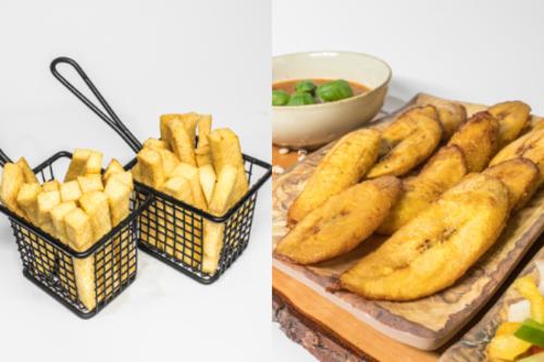 Fried Yam-Plantain Mix