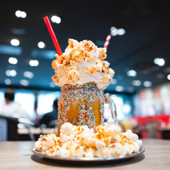 Salted Caramel Popcorn Shake