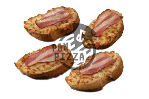 Knoblauchbrot mit Bacon & Cheese