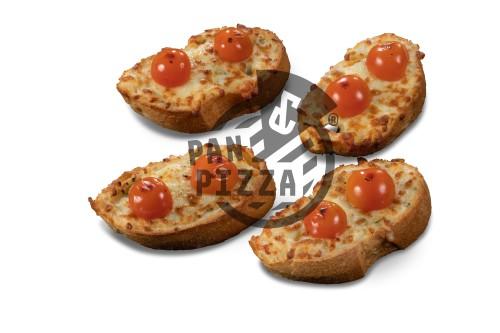 Knoblauchbrot mit Tomate & Mozzarella