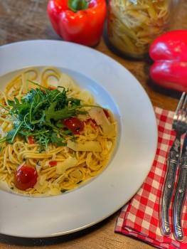 Tagliatelle Con Spinaci Freschi