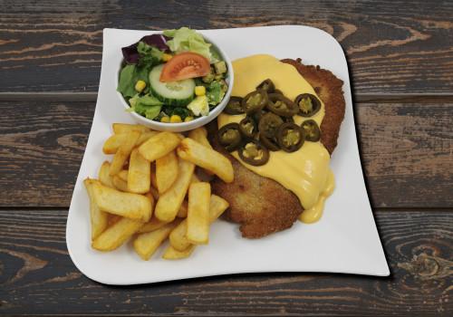 505 Chili Cheese-Schnitzel (Schwein)..........[X]