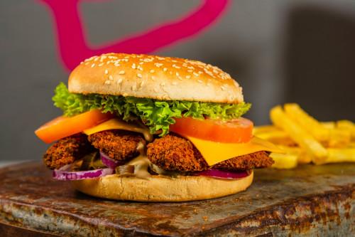 Chicken Stripes Burger
