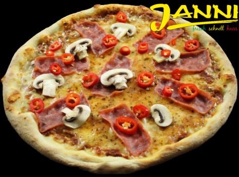 Pizza Garamba (Hinterschinken)