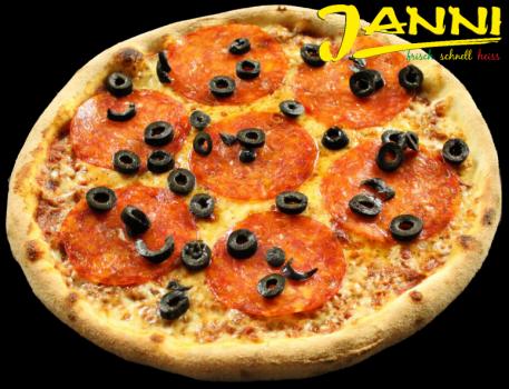 9s. Pizza Salame Piccante 26cm