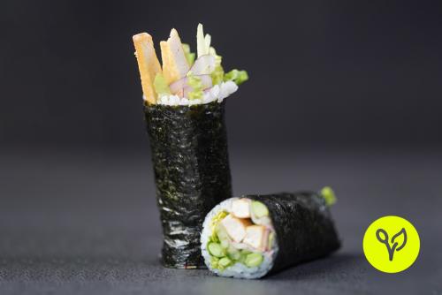 Sushi Burrito mit frittiertem Tofu (vegan)