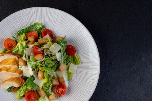 """Caesar Salad mit Maishähnchenbrust """"Supreme"""""""