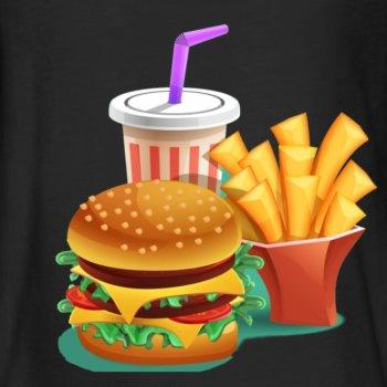 French Burger Menü