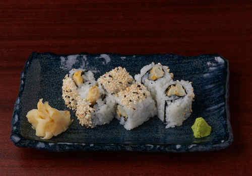 Asupara-tempura Uramaki