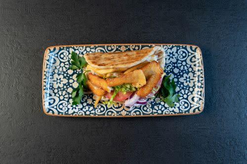 Pita mit Halloumi (vegetarisch)