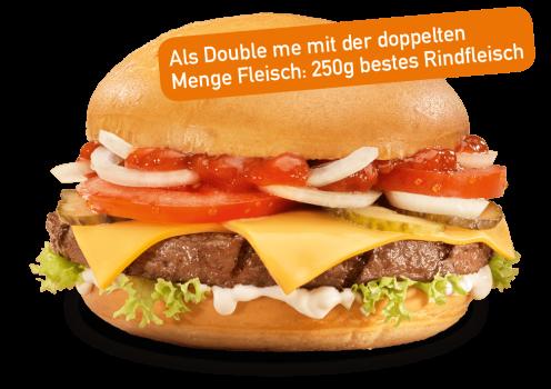 Brioche Cheese Burger Double me