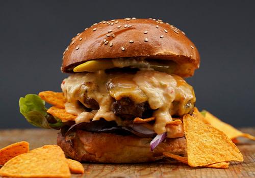 Macho Nacho Burger (double)