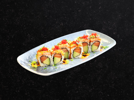 Double Flamed Salmon Roll (6 Stk.)