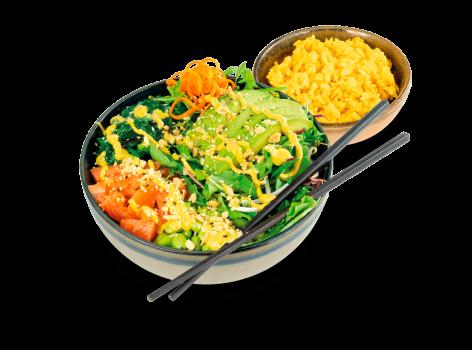 Curry Poke Bowl Gyoza
