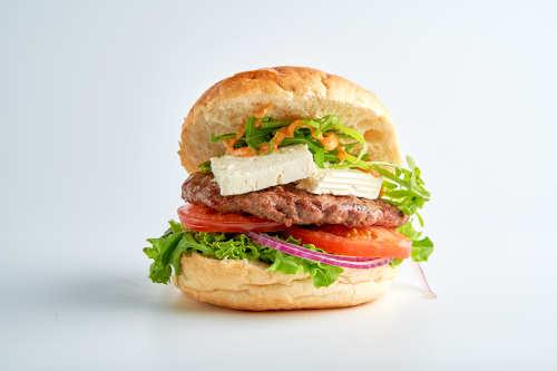 Troja-Ziegenkäse Burger