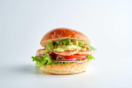 Hancock-Guacamole Grill Chicken Burger